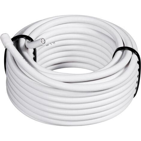 TRU Components 1562120 Koaxialkabel Außen-Durchmesser: 6.60mm RG6 /U 75Ω 90 dB Weiß 50m S859571
