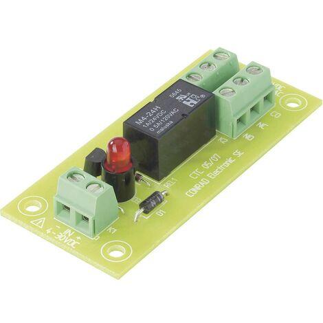 TRU COMPONENTS Carte relais équipé(e) 1 pc(s) REL-PCB3 1 2 inverseurs (RT) 5 V/DC
