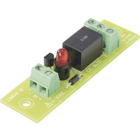 TRU COMPONENTS Carte relais équipé(e) 1 pc(s) REL-PCB4 3 1 inverseur (RT) 24 V/DC