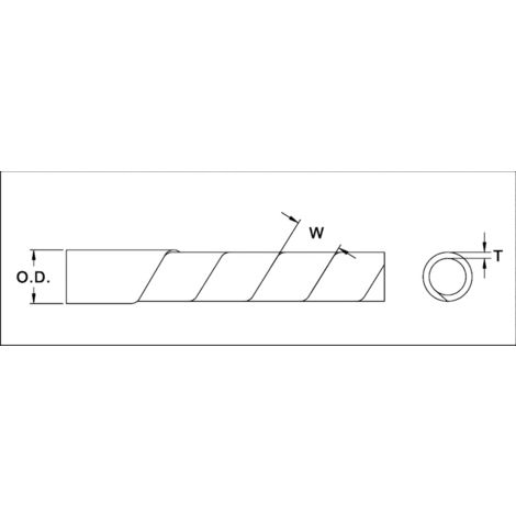 TRU Components TC-KS24203 Spiralschlauch 20 bis 100mm Farblos 10m S029351