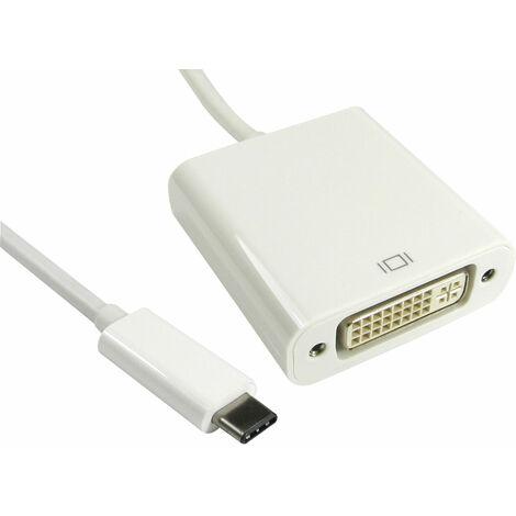 TruConnect 16-1741 15cm USB Type C M DVI-D F White Cable