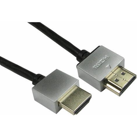TruConnect 16-1749 2m Super Slim HDMI M-M Black Cable