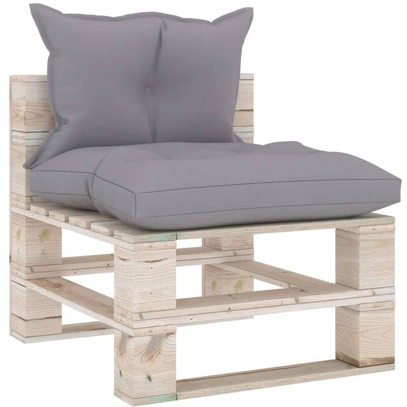 Canapé de milieu palette de jardin avec coussins Bois de pin