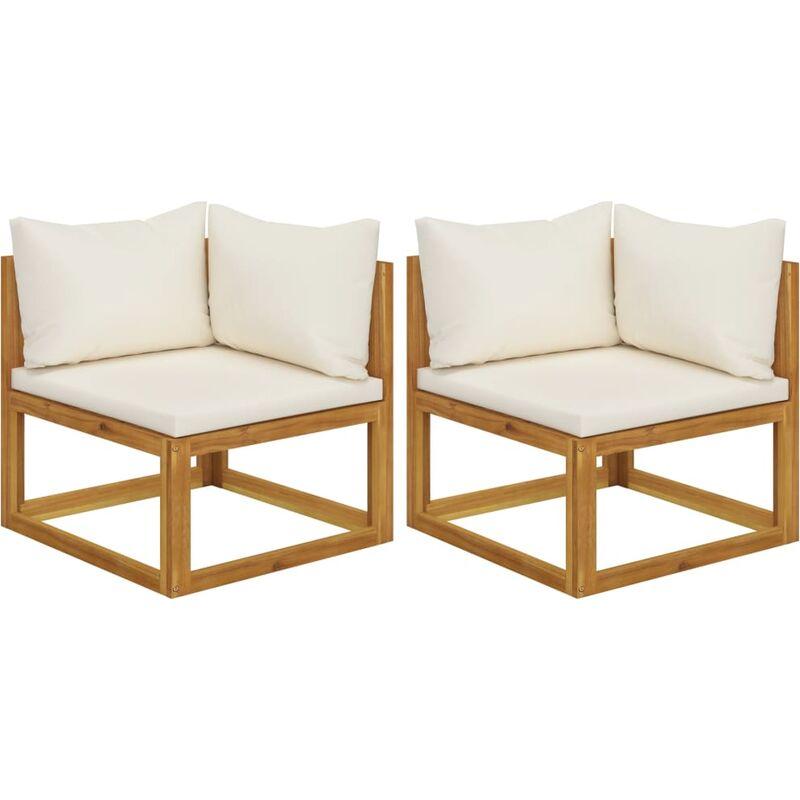 True Deal - Canapés d'angle sectionnels 2 pcs avec coussins Blanc crème