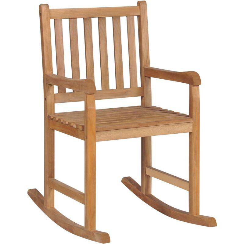 Chaise à bascule Teck massif - True Deal