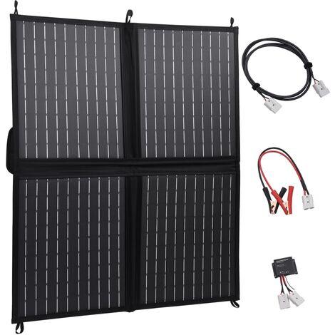 True Deal Chargeur de panneau solaire pliable 80 W 12 V