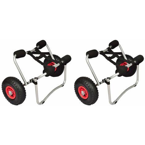 True Deal Chariots pour kayak 2 pcs Aluminium