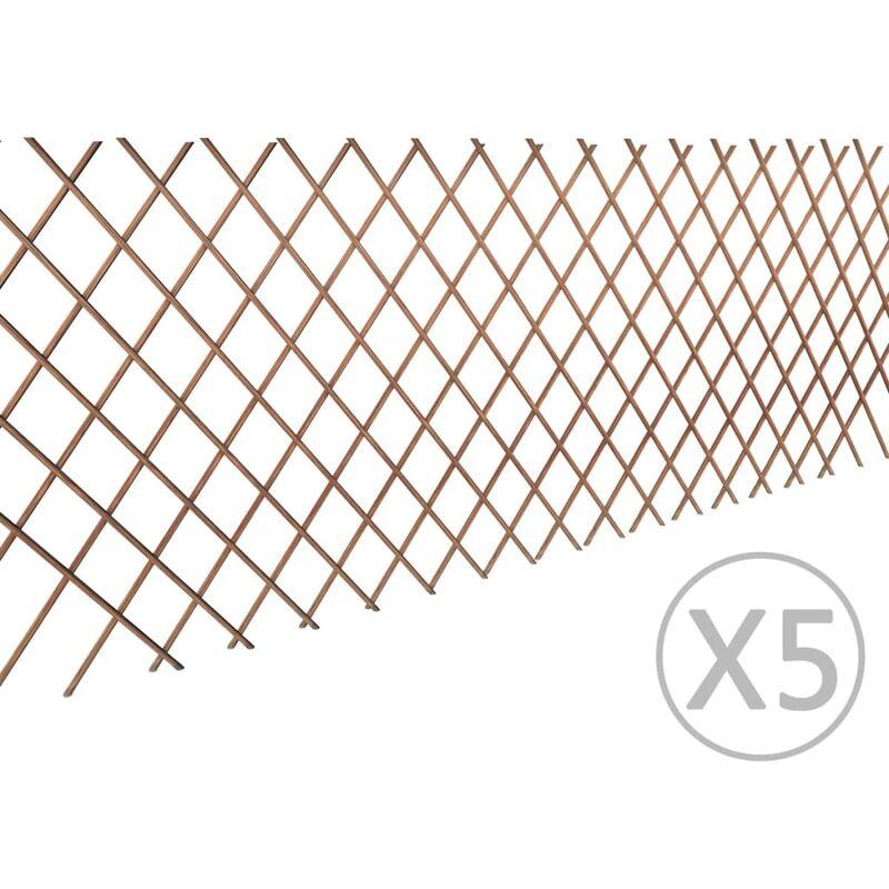 True Deal - Clôture en treillis de saule 5 pcs 180x90 cm