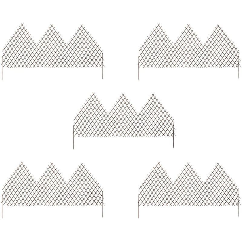 True Deal - Clôtures en treillis de jardin 5 pcs 170x105 cm Saule