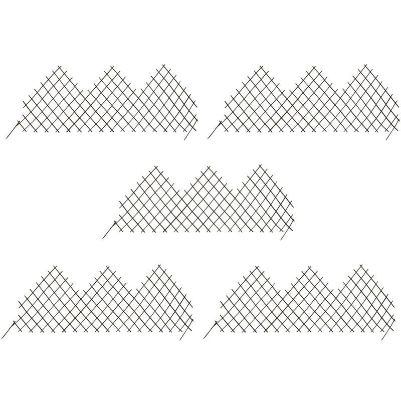 True Deal - Clôtures en treillis de jardin 5 pcs 170x75 cm Saule