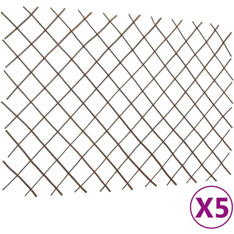 True Deal - Clôtures en treillis de saule 5 pcs 180x120 cm