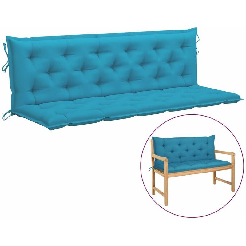 Coussin de balancelle Bleu clair 180 cm Tissu
