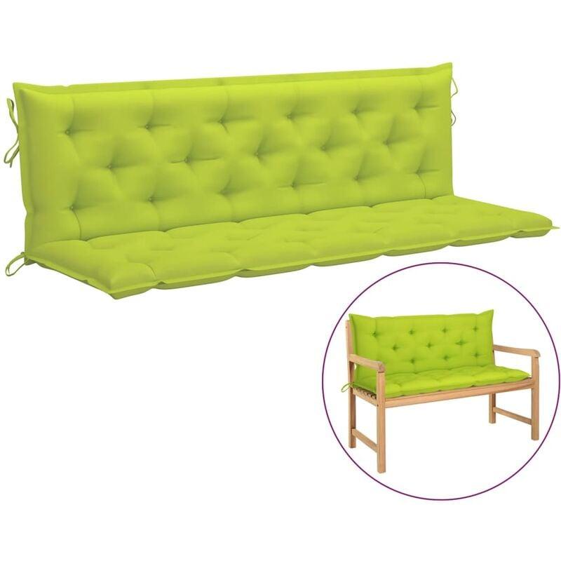 Coussin de balancelle Vert vif 180 cm Tissu