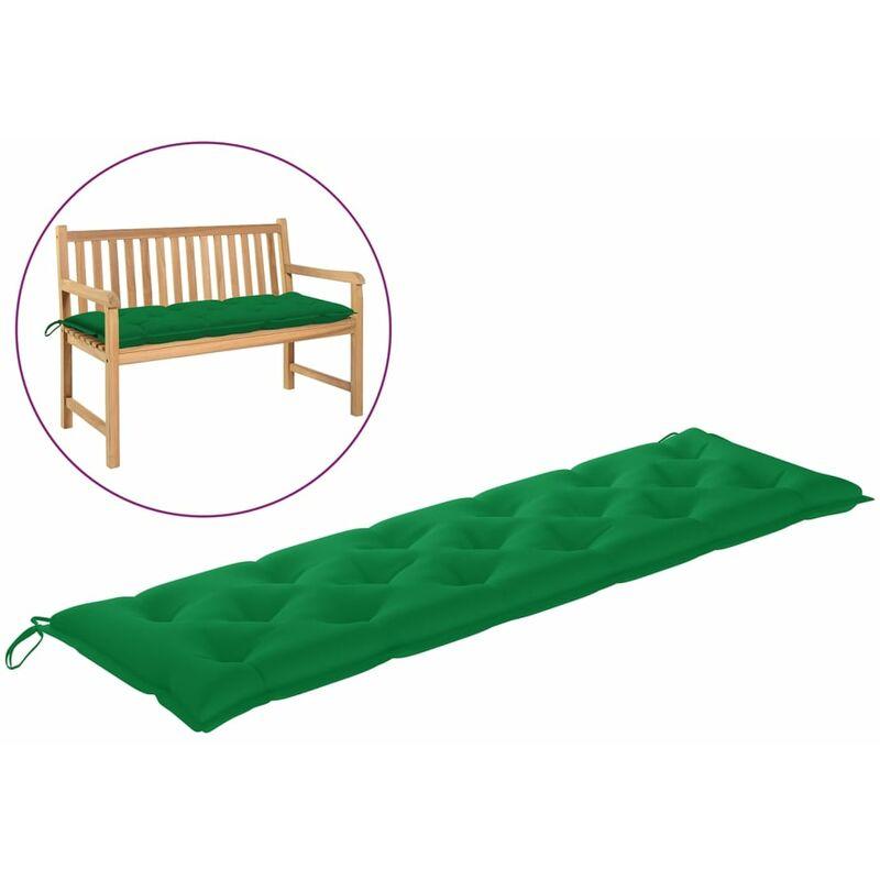 Coussin de banc de jardin Vert 180x50x7 cm Tissu