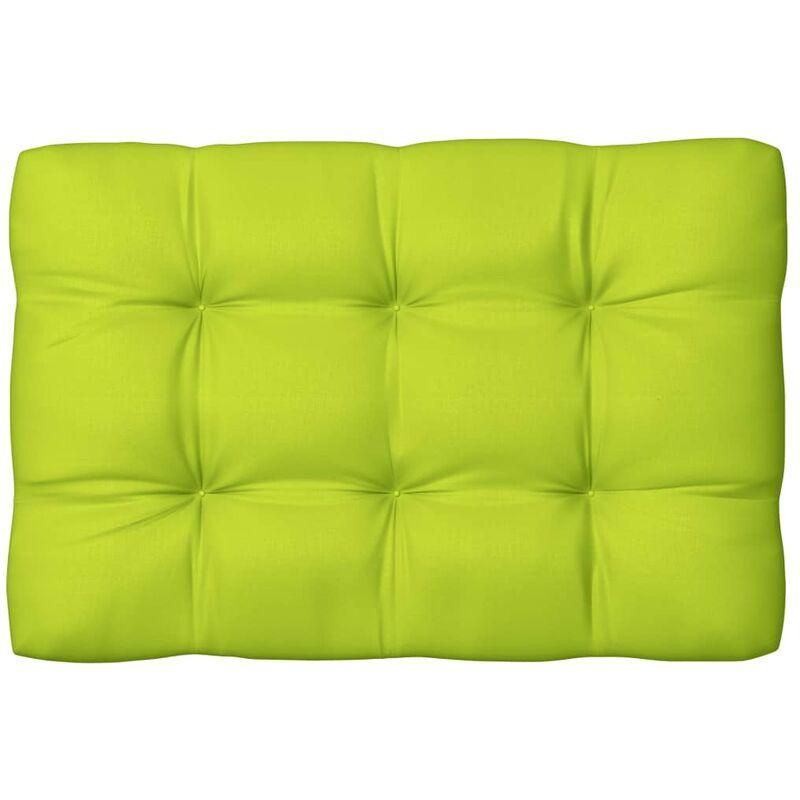 Coussin de palette Vert vif 120x80x12 cm Tissu