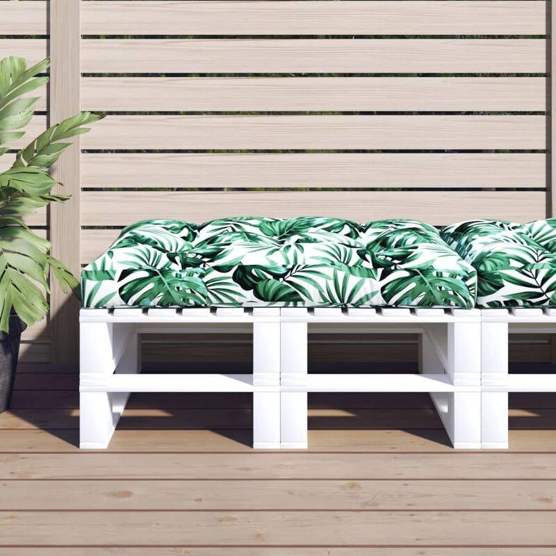 Coussin de siège de jardin Vert 120x80x10 cm Tissu