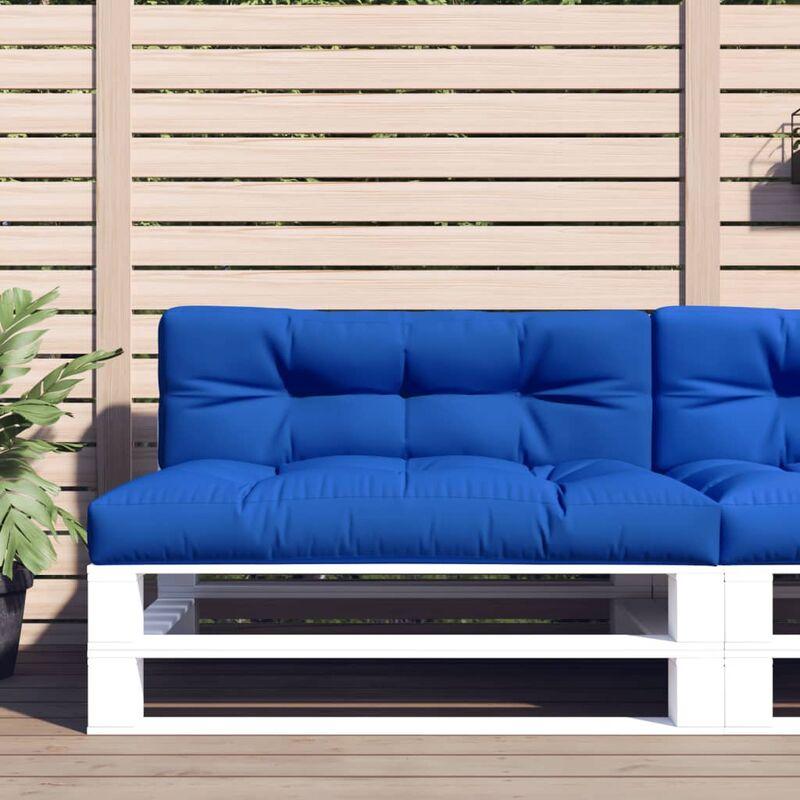 Coussins de canapé palette 2 pcs Bleu royal