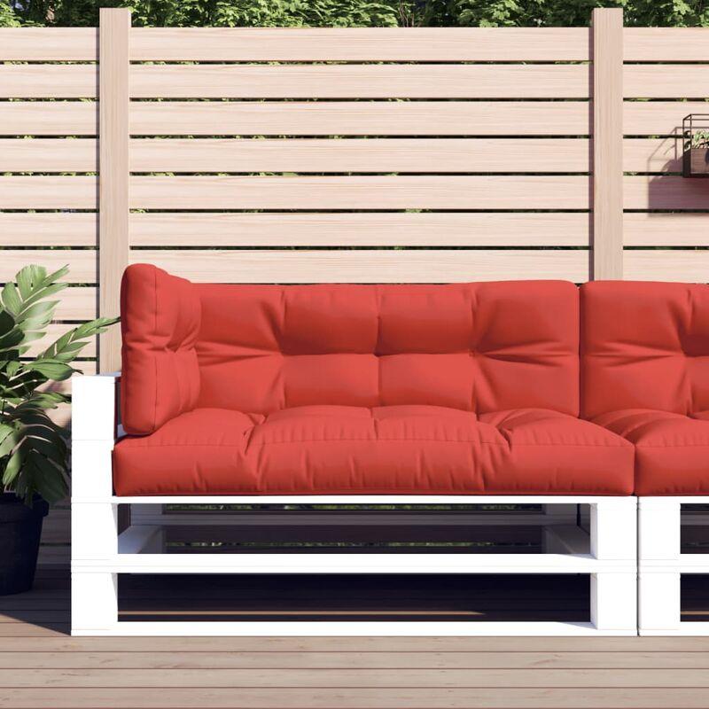 Coussins de canapé palette 3 pcs Rouge