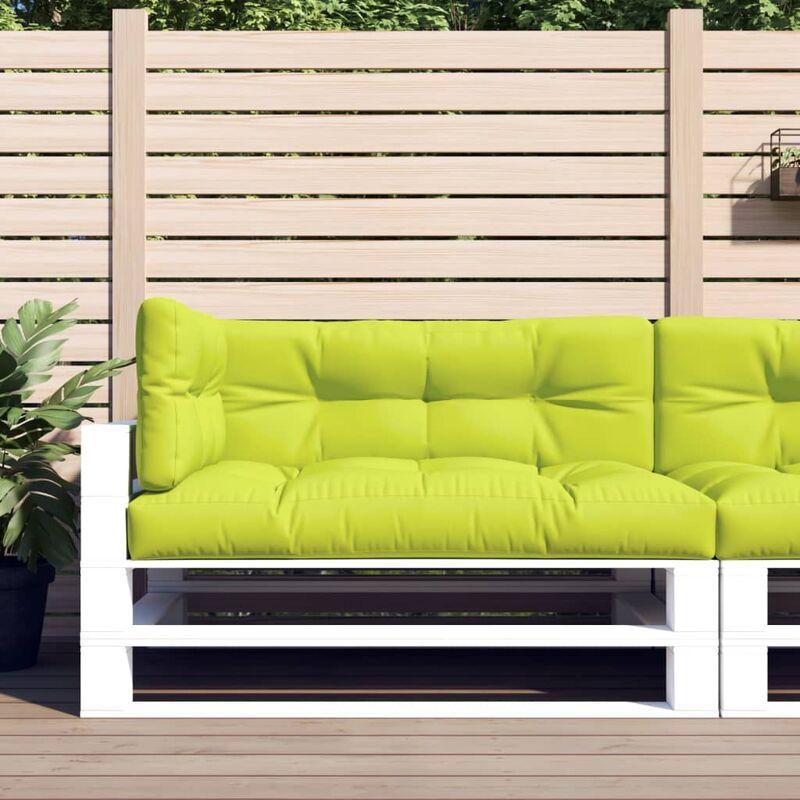 Coussins de canapé palette 3 pcs Vert vif