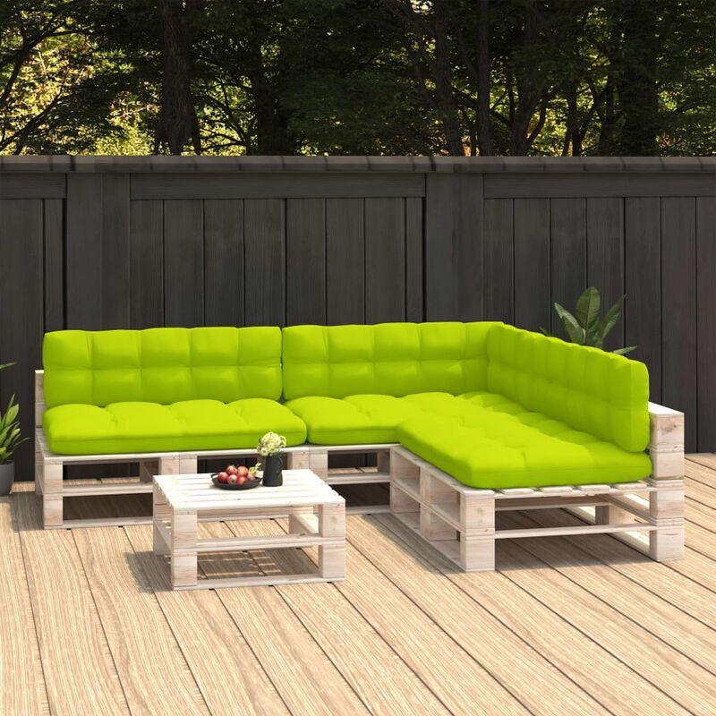 Coussins de canapé palette 7 pcs Vert vif