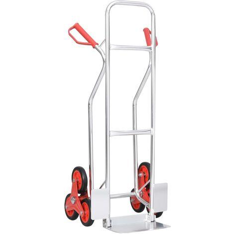True Deal Diable monte-escalier avec 6 roues 51x53,5x118 cm 150 kg