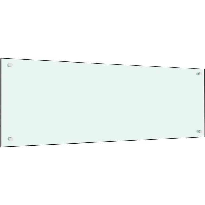 Dosseret de cuisine Blanc 120 x 40 cm Verre trempé