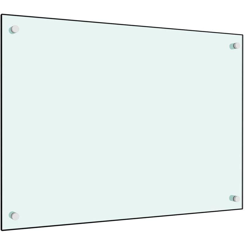 Dosseret de cuisine Blanc 70 x 50 cm Verre trempé