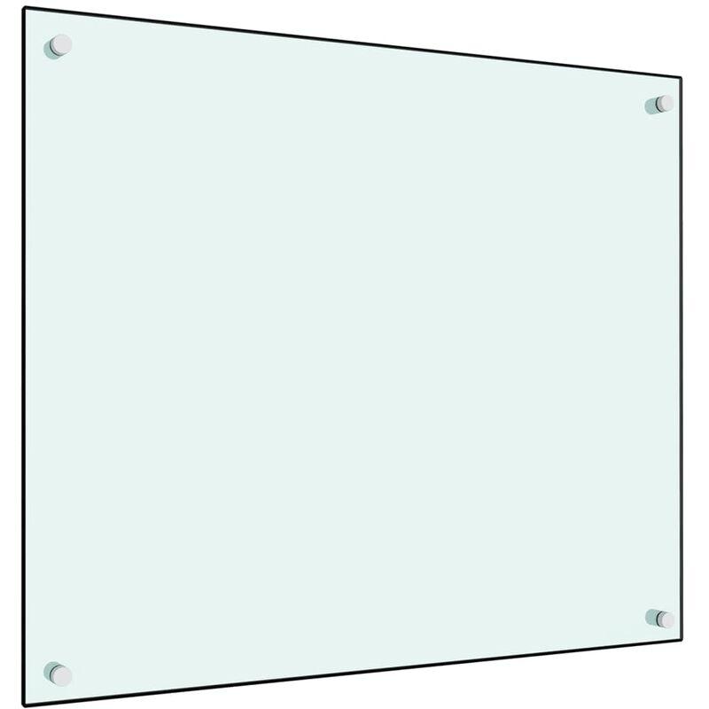 Dosseret de cuisine Blanc 70 x 60 cm Verre trempé