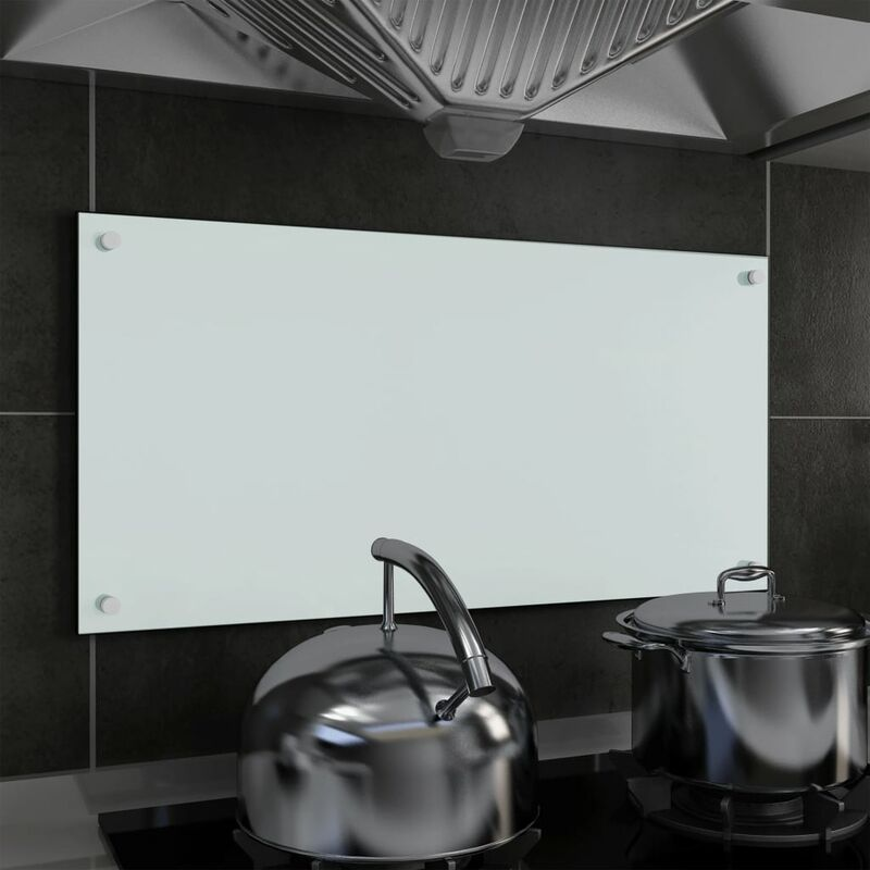 Dosseret de cuisine Blanc 80 x 40 cm Verre trempé