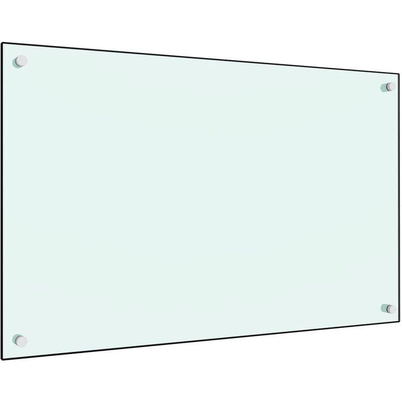 Dosseret de cuisine Blanc 80 x 50 cm Verre trempé