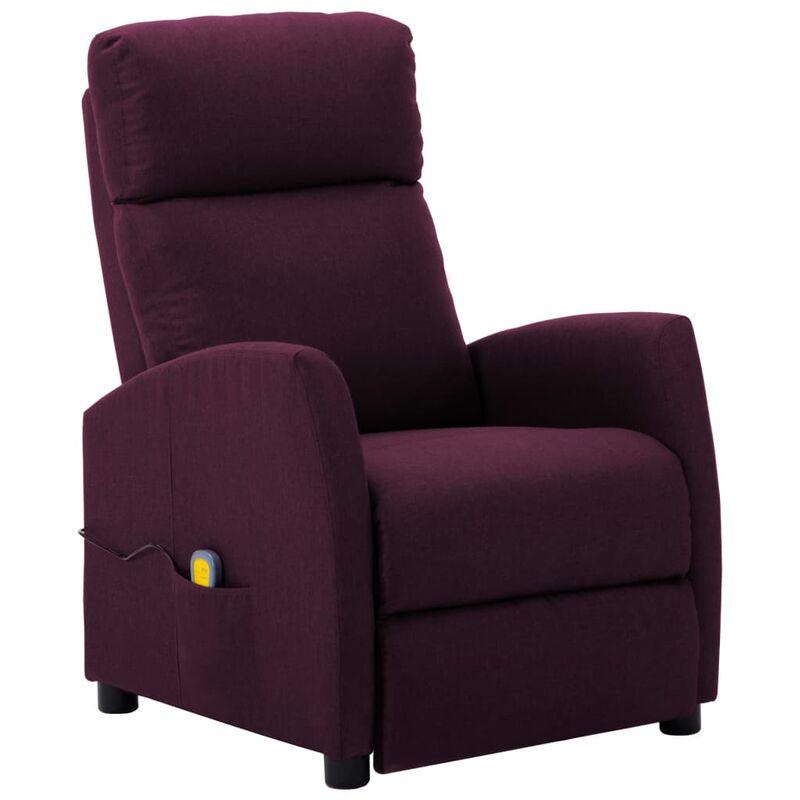 Fauteuil de massage inclinable Violet Tissu