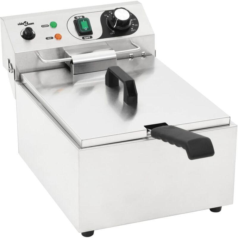 Friteuse électrique Acier inoxydable 10 L 3000 W - True Deal