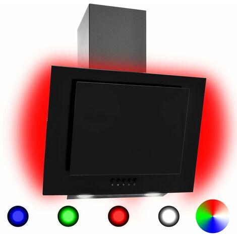 True Deal Hotte avec LED RVB 60 cm Acier inoxydable et verre trempé