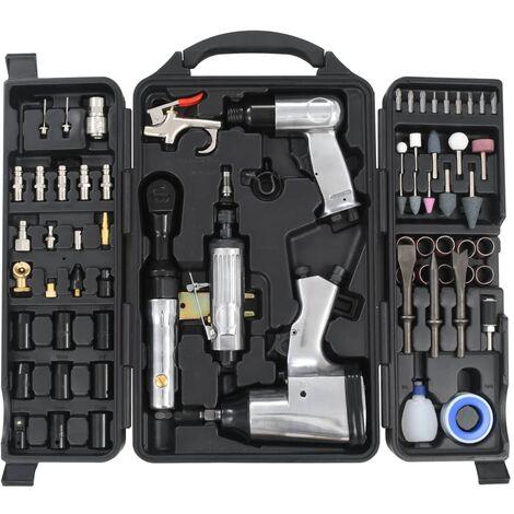 True Deal Kit d'outils pneumatiques 70 pcs