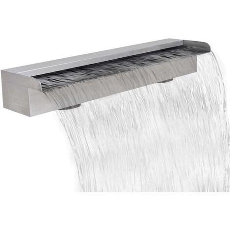 True Deal Lame d'eau rectangulaire 60 cm Acier inoxydable pour piscine