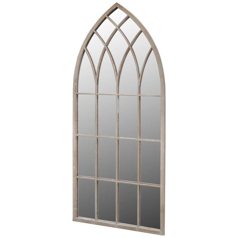 True Deal - Miroir de jardin d'arche gotique 50x115 cm Intérieur/extérieur