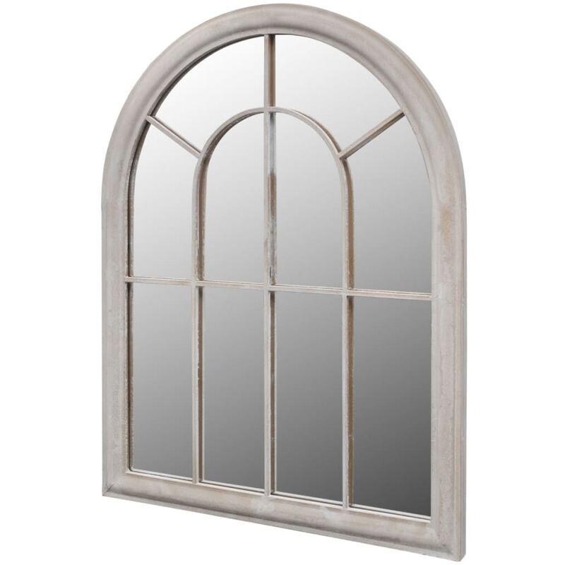 True Deal - Miroir de jardin d'arche rustique 69x89 cm Intérieur/extérieur