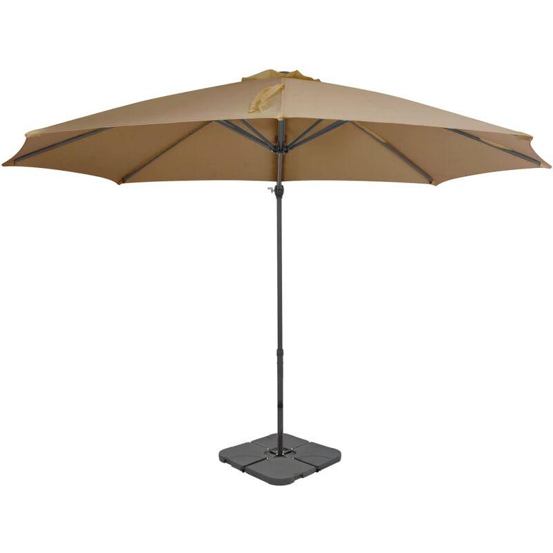 Parasol avec base portable Taupe