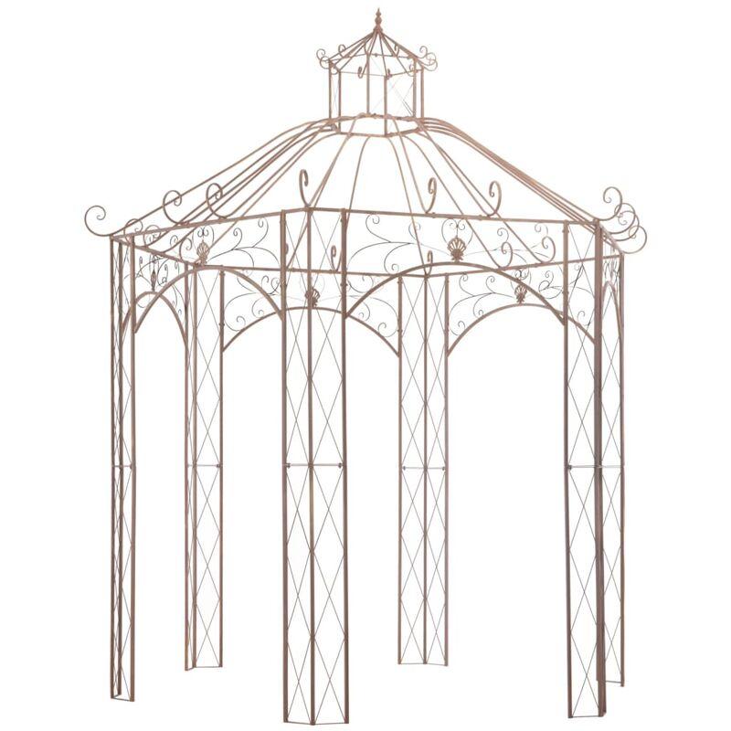 True Deal - Pavillon de jardin Marron antique 3 m Fer
