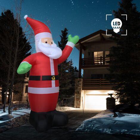 True Deal Père Noël gonflable LED IP44 600 cm XXL