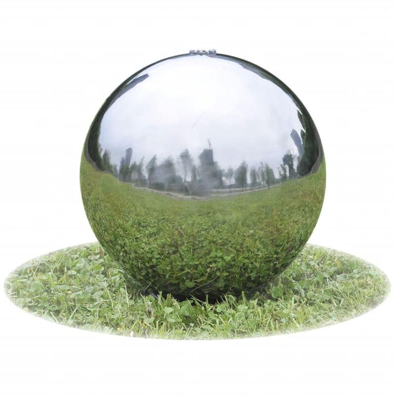 Sphère de fontaine de jardin avec LED Acier inoxydable 20 cm - True Deal