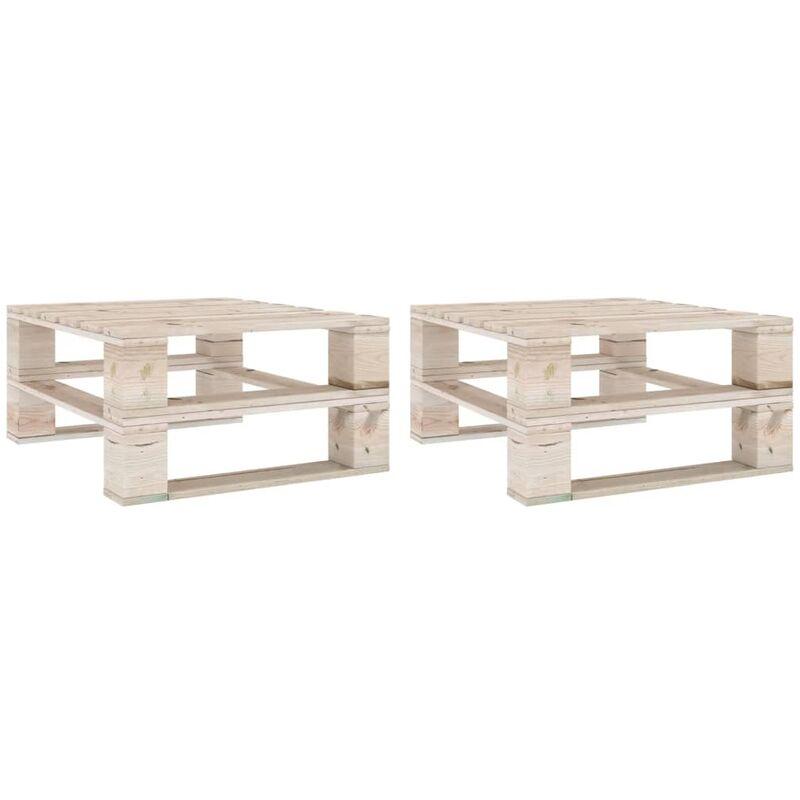 True Deal - Tables palette de jardin 2 pcs Bois de pin imprégné