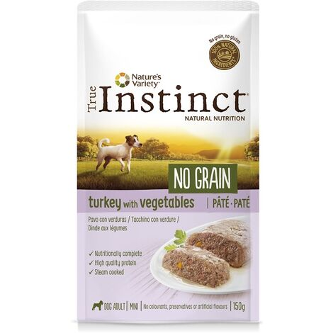 True Instinct Chien Mini No Grain Dinde – Pochons, 8 x 150 g