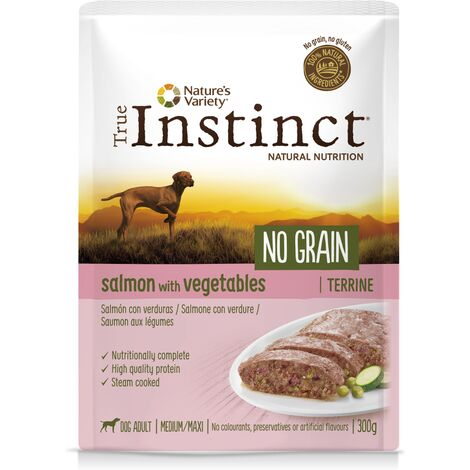 True instinct chien - pochon - no grain medium / maxi - saumon - 0.3kg