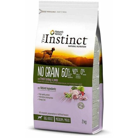 TRUE INSTINCT NO GRAIN MEDIUM-MAXI PAVO 2KG