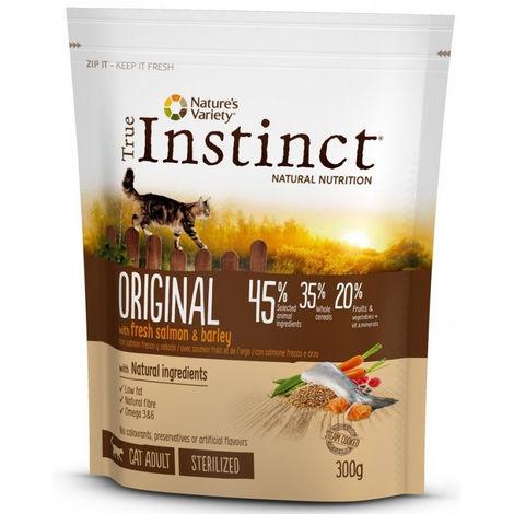 True Instinct Original con Salmone e Orzo 300 gr per Gatto Adulto Sterilizzato
