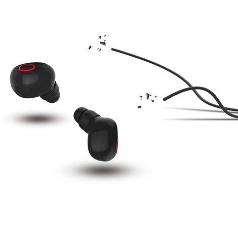 """main image of """"True Wireless Stereo T13 True Casque Bluetooth Sans Fil Ecouteurs Bluetooth 5.0 Casque Antibruit Ecouteurs Intra-Auriculaires Invisibles Avec Etui De Chargement Pour Micro, Blanche"""""""