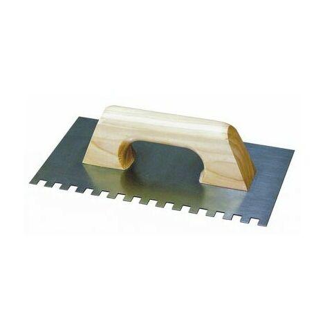 truelle crantee | peigne en acier | La mesure 280 x 115 mm