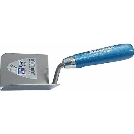 Truelle d'angle int. 90° 80x60mm inoxydable manche bleu