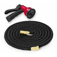 Trueshopping 100ft 30m Expandable Flexible Garden Hose Pipe with Brass Fittings